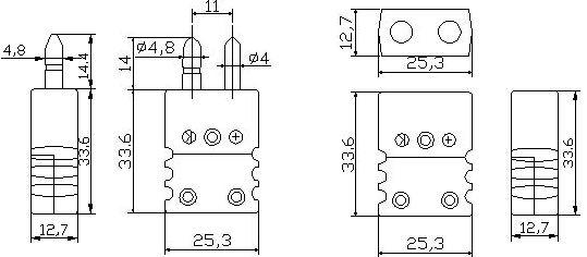 厂家直销k型热电偶插头